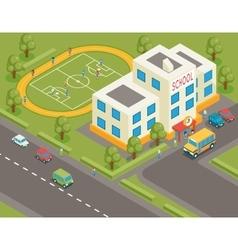 Isometric school or university building 3d vector image vector image