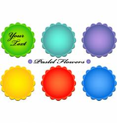 pastel flower buttons vector image