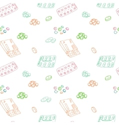 Seamless pattern for background medical vector image vector image