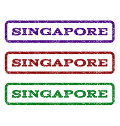 singapore watermark stamp vector image vector image