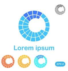 C letter segment logo template vector image
