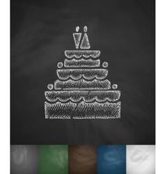 wedding cake icon Hand drawn vector image