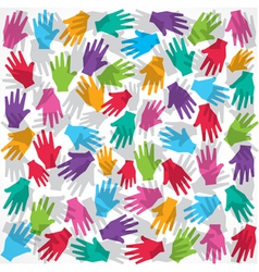 Colorful hand background vector image