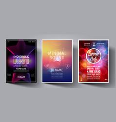 Dance club night summer party flyer vector