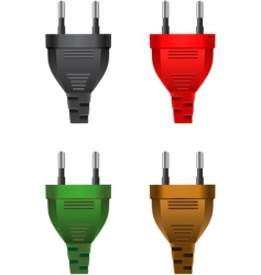 electric plugs vector image vector image