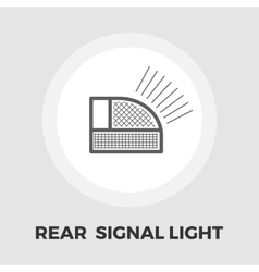 Rear signal light car icon flat vector image vector image