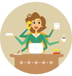 secretary vector image