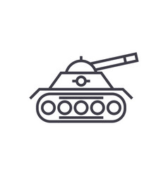 war tank line icon sign on vector image vector image