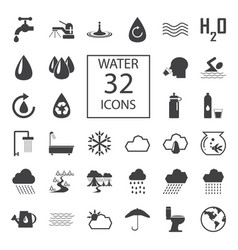water 32 icons vector image vector image