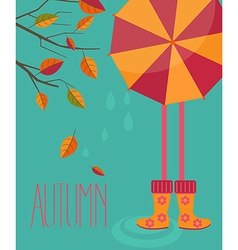 Autumn season in flat style vector image