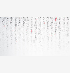 binary background data and technology decryption vector image