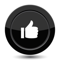 Button with yes sign vector image vector image