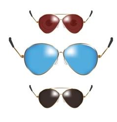 Classic men police sunglasses vector image vector image