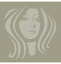 Female graphic vector image vector image