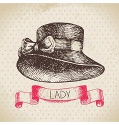 Hand drawn elegant vintage ladies background vector image