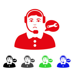 sad service center lady icon vector image