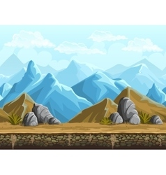 Seamless background of snowy mountains vector