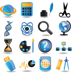 Set of education icons - part 2 vector image vector image