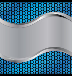 wave silver blue vector image