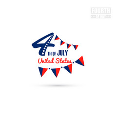 4th of july united states vector image