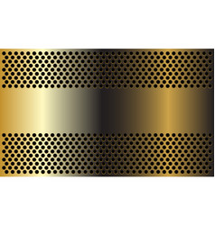 Abstract golden banner on circle mesh design moder vector