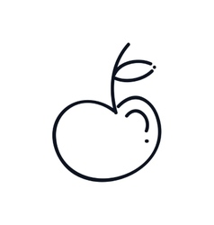 Apple fruit silhouette vector