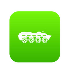 army battle tank icon digital green vector image