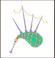 Bagpipes icon vector