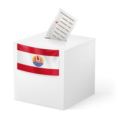 Ballot box with voting paper French Polynesia vector