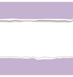 Border of torn paper realistic vector