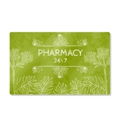 Business card or storefront pharmacies that sell vector