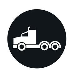 car truck head model transport vehicle block and vector image