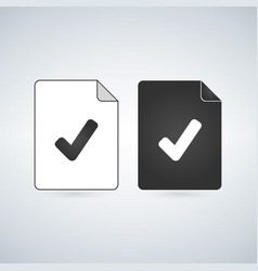 Check document file icon flat sign for mobile vector