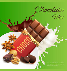 chocolate mix realistic vector image