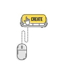 Computer mouse clicks the cursor vector
