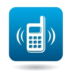 Consultation by phone icon flat style vector image