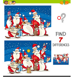 differences game with santa claus vector image