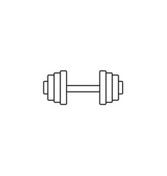 Dumbbel line icon gym tool graphics vector