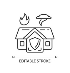 Emergency shelter linear icon vector