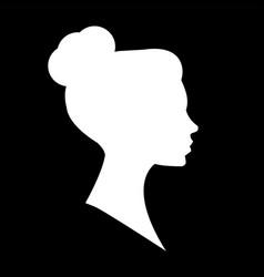 female head silhouette beauriful girl woman vector image