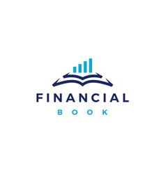 Finance financial book logo icon vector