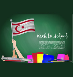 Flag of turkish republic on black chalkboard vector