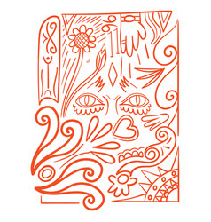 Flat design pattern vector