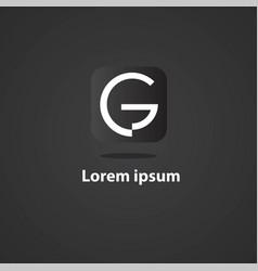 g logo vector image