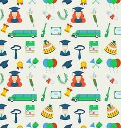 Graduation Celebration Pattern background vector image