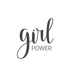 handwritten lettering of girl power vector image
