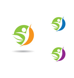 Healthy life logo template icon vector