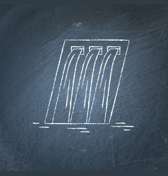 Hydroelectric station chalkboard sketch vector