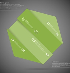 Infographic template with hexagon askew divided to vector