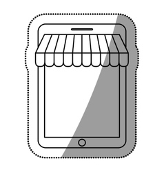 Isolated tablet and ecommerce design vector